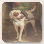 The Grocer's Dog (oil on panel) Drink Coaster