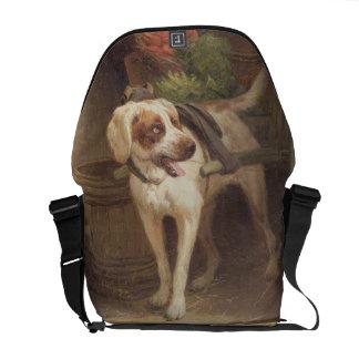 The Grocer's Dog (oil on panel) Messenger Bag