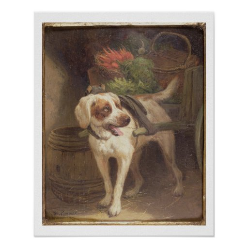 The Grocer's Dog (oil on panel) Poster