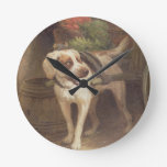 The Grocer's Dog (oil on panel) Round Wallclock