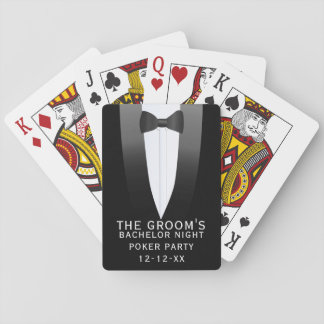 The Groom Bachelor Night Poker Party Playing Cards