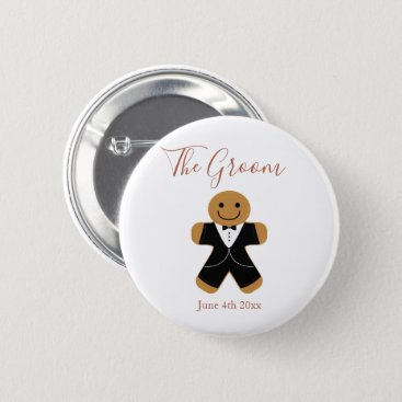 Wedding Themed The Groom Gingerbread | Button