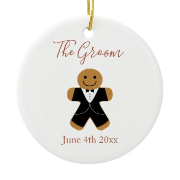 Wedding Themed The Groom Gingerbread | Ornament