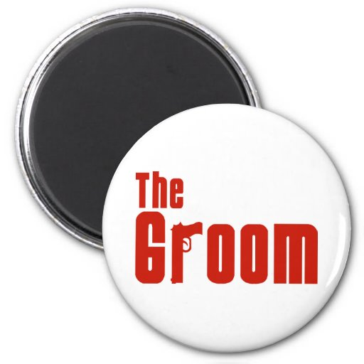 The Groom (Mafia Red) 2 Inch Round Magnet