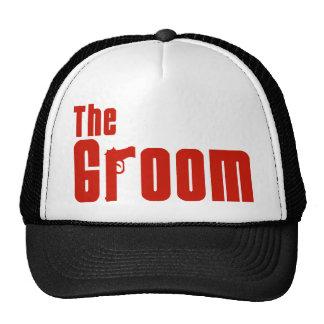 The Groom Mafia Red Mesh Hats