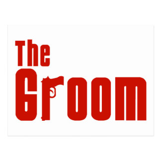 The Groom (Mafia Red) Postcard