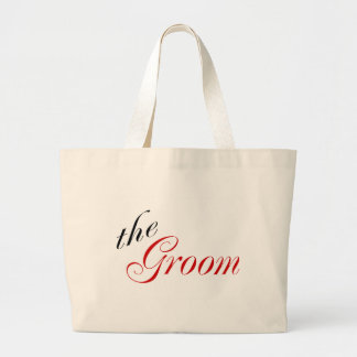 The Groom (Red) Tote Bags
