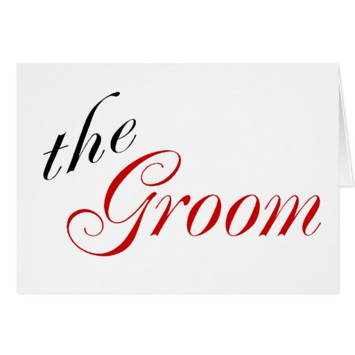 The Groom (Red) Greeting Cards