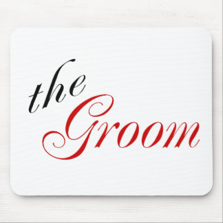 The Groom (Script Red) Mouse Pad