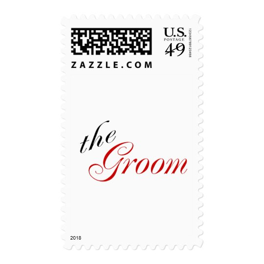 The Groom (Script Red) Postage