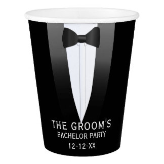 The Groom Tuxedo Wedding Bachelor Party Paper Cup