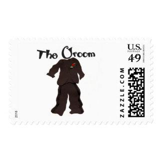 The Groom Wedding Postage Stamps