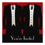 "The Grooms 5.25"" Square Invitation Card"