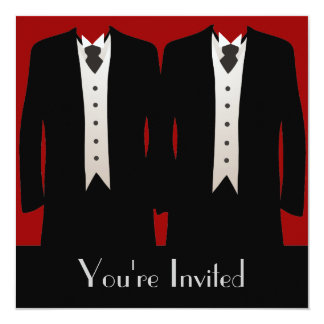 The Grooms 5.25x5.25 Square Paper Invitation Card