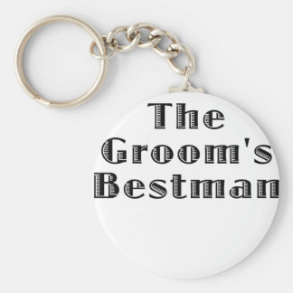 The Grooms Bestman Basic Round Button Keychain