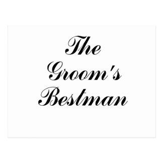 The Grooms Bestman Postcard