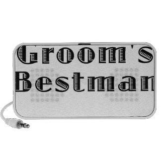 The Grooms Bestman Notebook Speakers