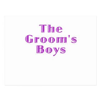 The Grooms Boys Postcard