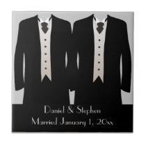 The Grooms Ceramic Tile