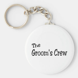 The Grooms Crew (Black) Basic Round Button Keychain