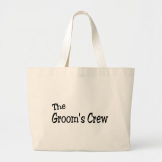 The Grooms Crew (Black) Canvas Bags