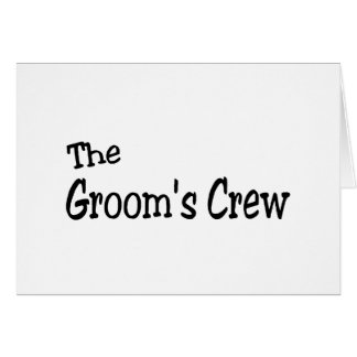 The Grooms Crew (Black) Cards