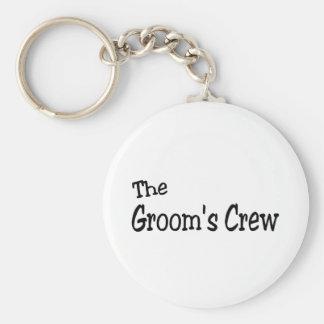 The Grooms Crew (Black) Key Chain