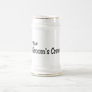 The Grooms Crew (Black) Mugs