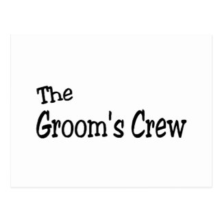The Grooms Crew (Black) Post Cards