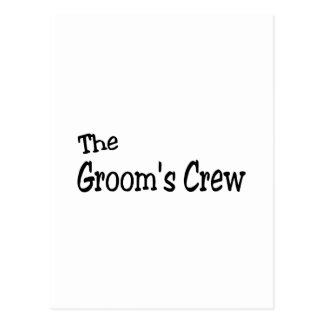 The Grooms Crew (Black) Postcard