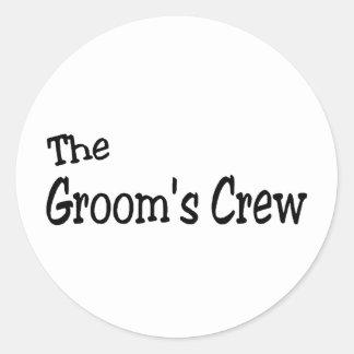 The Grooms Crew (Black) Stickers