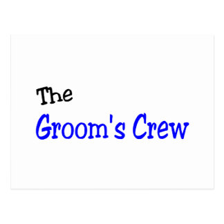 The Grooms Crew (Blue and Black) Post Cards