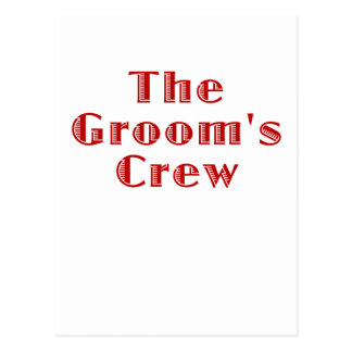 The Grooms Crew Post Cards