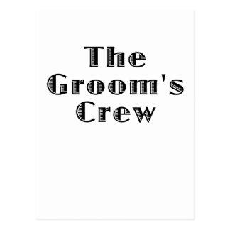 The Grooms Crew Postcard