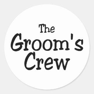 The Grooms Crew Classic Round Sticker