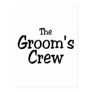 The Grooms Crew Wedding Postcards