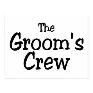 The Grooms Crew Wedding Post Cards