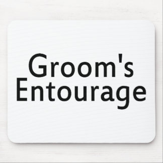 The Grooms Entourage Black Mouse Pad