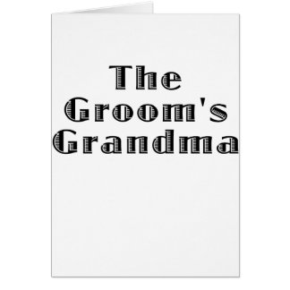 The Grooms Grandma Card