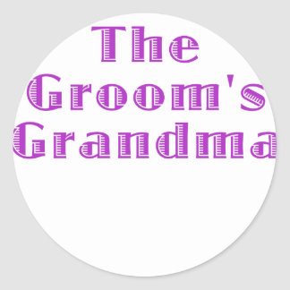 The Grooms Grandma Classic Round Sticker