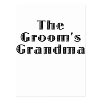 The Grooms Grandma Postcard