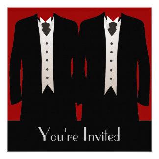 The Grooms Custom Invite