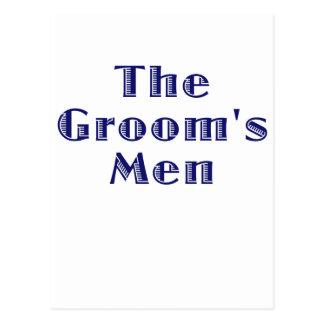 The Grooms Men Postcard