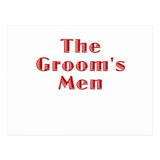 The Grooms Men Post Card