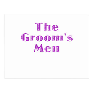The Grooms Men Post Cards