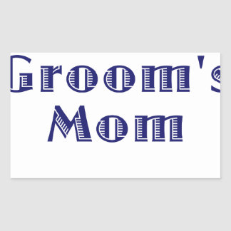 The Grooms Mom Rectangular Sticker