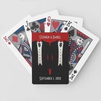 The Grooms Playing Cards