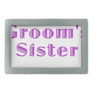 The Grooms Sister Belt Buckles