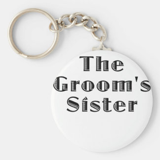 The Grooms Sister Keychain