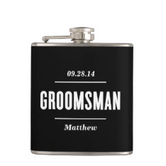 The Groomsman | Wedding Flask at Zazzle